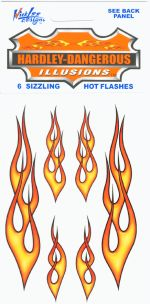 Hot Flashes Motorcycle Flame Decals