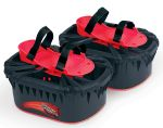 Moon Shoes - black and red